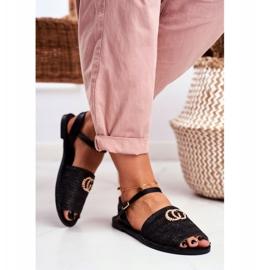 Black Women's Flat Sandals Lu Boo Braided Felicia 3