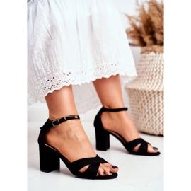 BUGO Women's Sandals Suede Black Lady Million 1