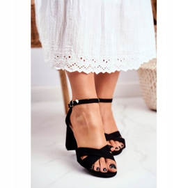 BUGO Women's Sandals Suede Black Lady Million 4
