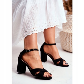 BUGO Women's Sandals Suede Black Lady Million 2