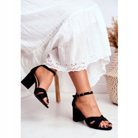BUGO Women's Sandals Suede Black Lady Million 3