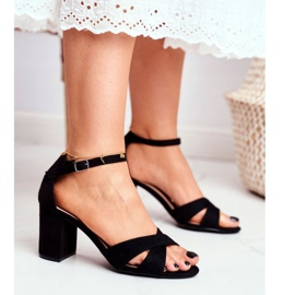 BUGO Women's Sandals Suede Black Lady Million 5