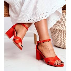 BUGO Women's Sandals Suede Orange Lady Million 4