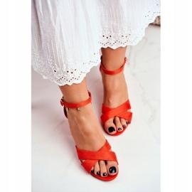 BUGO Women's Sandals Suede Orange Lady Million 1