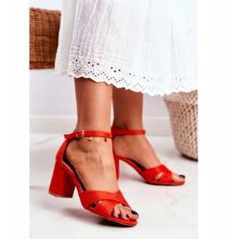 BUGO Women's Sandals Suede Orange Lady Million 2