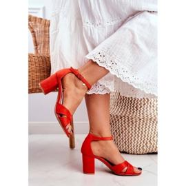 BUGO Women's Sandals Suede Orange Lady Million 3