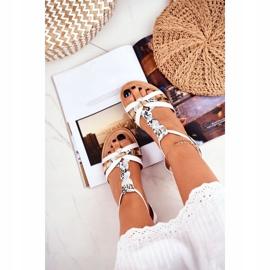 SEA Women's Sandals Elegant White Snake Brooke 4