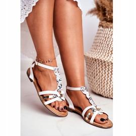 SEA Women's Sandals Elegant White Snake Brooke 3