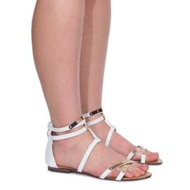 Lacquered Sandals Sheet E-103 White 2
