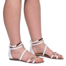 Lacquered Sandals Sheet E-103 White 3