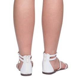 Lacquered Sandals Sheet E-103 White 4