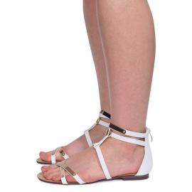 Lacquered Sandals Sheet E-103 White 1