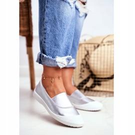 LU BOO Sneakers Slip On Slip-on Sneakers Silver Justy grey 1