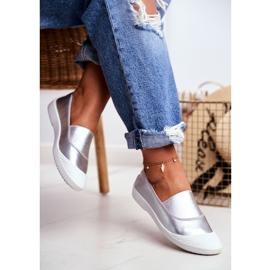 LU BOO Sneakers Slip On Slip-on Sneakers Silver Justy grey 3