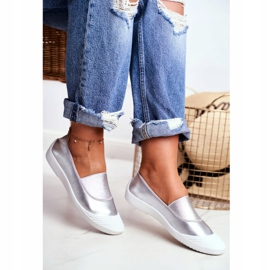 LU BOO Sneakers Slip On Slip-on Sneakers Silver Justy grey 2