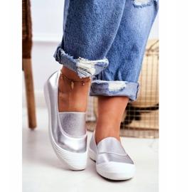 LU BOO Sneakers Slip On Slip-on Sneakers Silver Justy grey 4