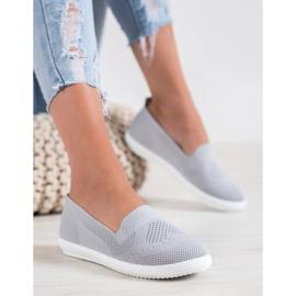 Via Giulia  Gray openwork sneakers grey 2