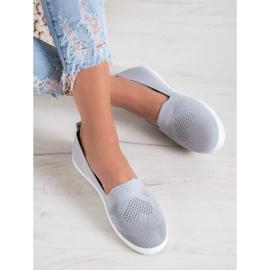 Via Giulia  Gray openwork sneakers grey 3