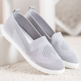 Via Giulia  Gray openwork sneakers grey 4