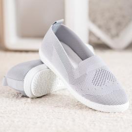 Via Giulia  Gray openwork sneakers grey 5