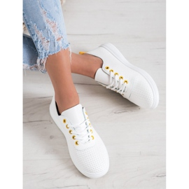 SHELOVET Openwork Sneakers With Eco Leather white 2