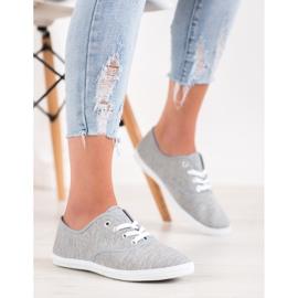SHELOVET Light Gray Sneakers grey 5