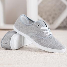 SHELOVET Light Gray Sneakers grey 3