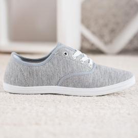 SHELOVET Light Gray Sneakers grey 4