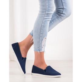 SHELOVET Comfortable Slip-On Sneakers blue 3