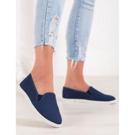 SHELOVET Comfortable Slip-On Sneakers blue 2