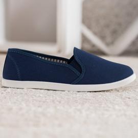 SHELOVET Comfortable Slip-On Sneakers blue 1