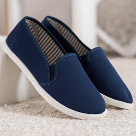 SHELOVET Comfortable Slip-On Sneakers blue 4