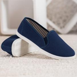 SHELOVET Comfortable Slip-On Sneakers blue 5