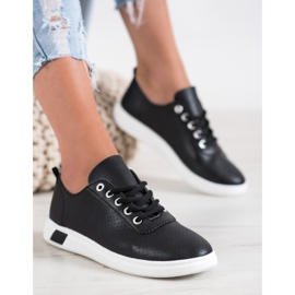 SHELOVET Openwork Sneakers With Eco Leather black 5