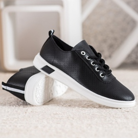 SHELOVET Openwork Sneakers With Eco Leather black 3