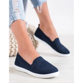 Via Giulia  Navy blue openwork sneakers 5