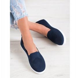 Via Giulia  Navy blue openwork sneakers 1