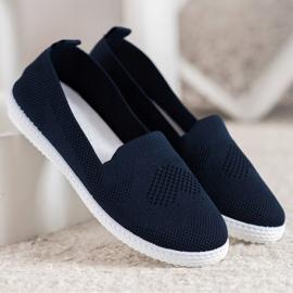 Via Giulia  Navy blue openwork sneakers 2
