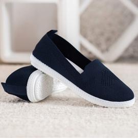 Via Giulia  Navy blue openwork sneakers 3