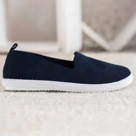 Via Giulia  Navy blue openwork sneakers 4
