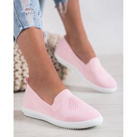 Via Giulia  Pink openwork sneakers 4