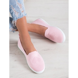Via Giulia  Pink openwork sneakers 5
