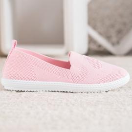 Via Giulia  Pink openwork sneakers 1