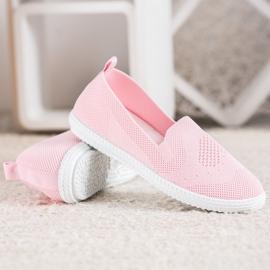 Via Giulia  Pink openwork sneakers 2