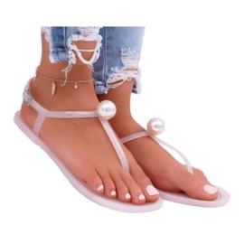 LU BOO Women's Meliski Sandals with Pearl Pink Contiro 3