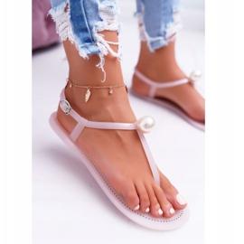 LU BOO Women's Meliski Sandals with Pearl Pink Contiro 2
