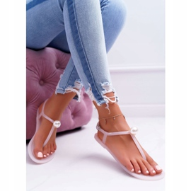 LU BOO Women's Meliski Sandals with Pearl Pink Contiro 1