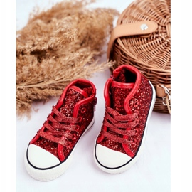 FRROCK Children/'s Sneakers High Shiny Red Ally