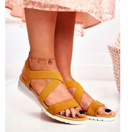 SEA Women's Sandals On Wedge Yellow Slip-on Harper 1