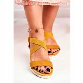 SEA Women's Sandals On Wedge Yellow Slip-on Harper 5